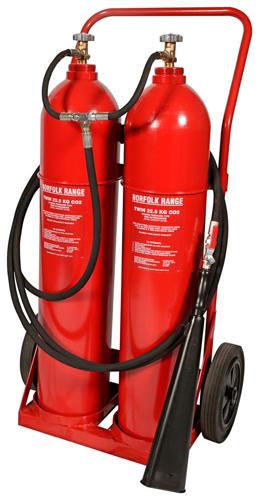 45kg CO2 Wheeled Extinguisher