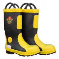 Harvik 9687 Black/Yellow Rubber Fire Fighters Boot