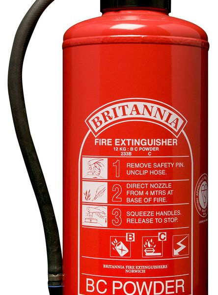 12kg BC Powder Fire Extinguisher, Cartridge Operated