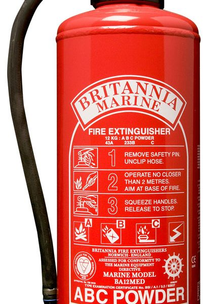 12kg Powder Fire Extinguisher, Cartridge Operated, MED