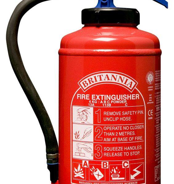 4kg Powder Fire Extinguisher, Cartridge Operated