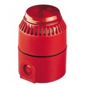 Cooper Fulleon Flashni Sounder Beacon Red Lens, Red Body & Deep Base 640003MED-0313X