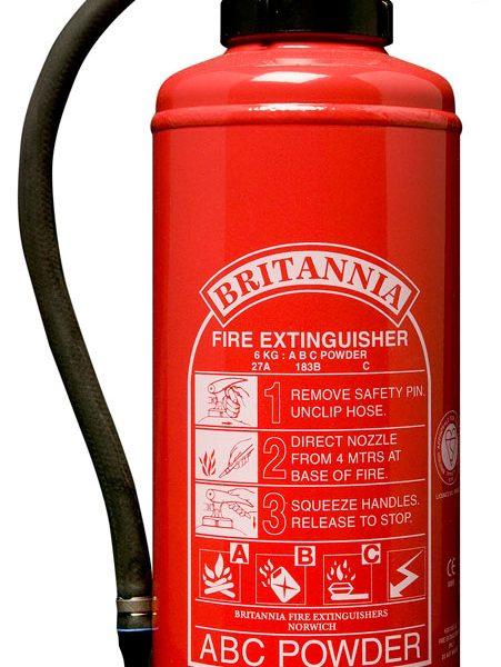 6kg Powder Fire Extinguisher, Cartridge Operated