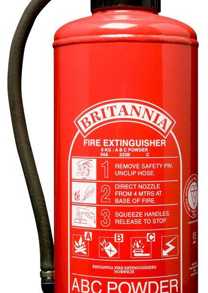 9kg Powder Fire Extinguisher, Cartridge Operated