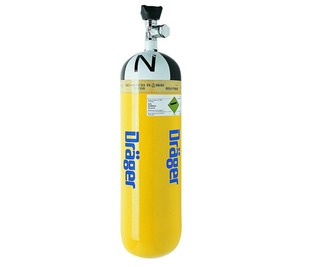 3354635, Drager 6ltr, 200 bar Steel Cylinder