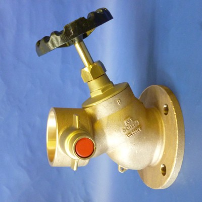 "Horizontal Fire Hydrant Valve. Inlet 2.5"" PN16 Flange. Outlet: 2.5"" Instantaneous Female"